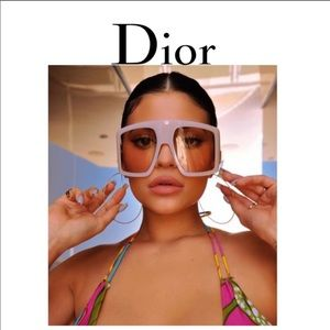 Christian Dior So Light 1 Pink Sunglasses New